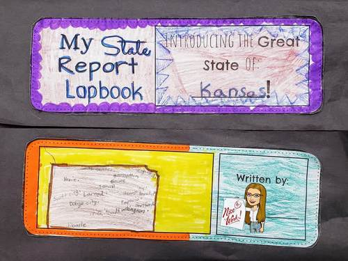 Kansas Lapbook - Instructions on each page!