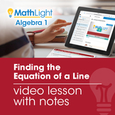 Finding the Equation of a Line (Part 1) Video Lesson | Dis