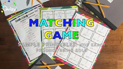 Algebra: Factoring #3 Matching Game