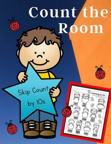 Count the Room - Write the Room - Skip Counting by 10s Tens Ones Ladybugs Shapes