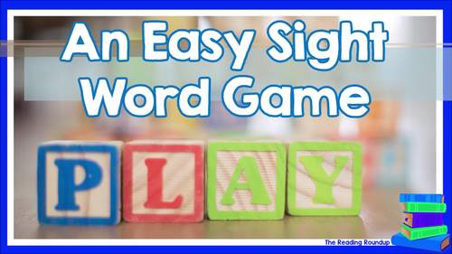 St. Patrick's Day Sight Word Flash Cards and Game | March
