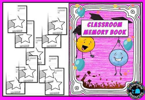 Memory Book for End of Year (k-8)