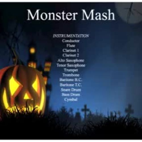 Monster Mash Marching Parade Music for Young Band