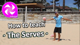 How to teach Volleyball - The Serves - PE sport skills grades 3-6
