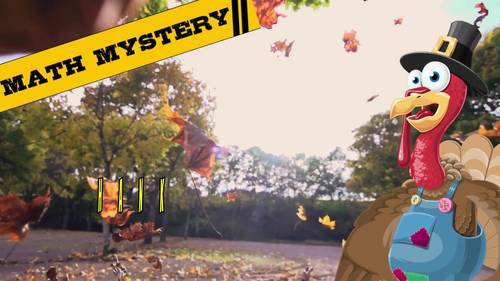 Thanksgiving CSI Digital Math Mystery Game - Differentiated Levels