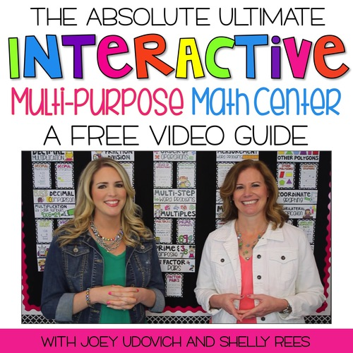 Math Centers - A FREE Video Guide for the Ultimate, Multi-Purpose Math Center