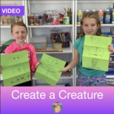 Distance Learning Teaching Video: Create a Creature Drawin