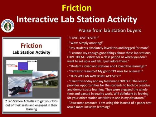 Friction - Physics - 7 Engaging Lab Stations
