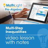 Multi-Step Inequalities Video Lesson with Guided Notes | D