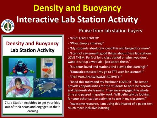 Density and Buoyancy  - 7 Lab Station Activities