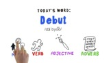 FREE: Word of the Week Vocabulary: DEBUT: Animation Video