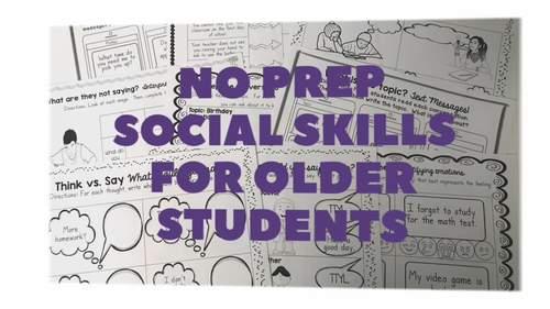 No Prep Social Skills for Older Students