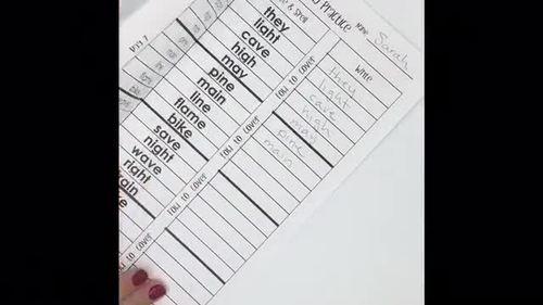 Spelling Practice Worksheet for ANY Word List- EDITABLE