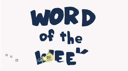 April Word of the Week Vocabulary Bundle: 5 Words (videos, quizzes, activities)