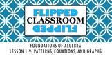 Algebra 1 Flipped Classroom - Lesson 1-9: Patterns, Equati