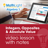 Integers, Opposites, and Absolute Value Review Video Lesso
