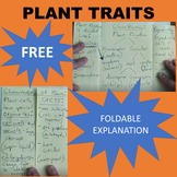 Plant Characteristics, Traits and Types Foldable VIDEO