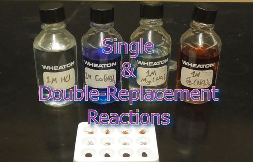 Chemistry Lab Video - Single and Double-Replacement Reactions (w/ Answer Key)
