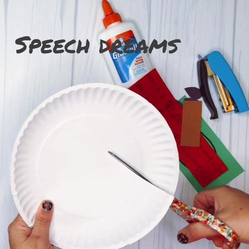 Apple Speech Therapy Craft (articulation language)