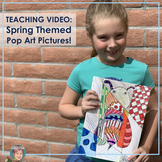 "Distance Learning Teaching Video: Spring Themed ""Pop Art"" Bee"