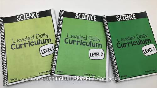 Science Leveled Daily Curriculum {BUNDLE}