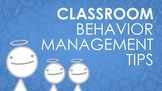 Behavior Management Techniques that Work:  Positive Classr