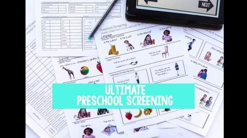 Screening Toolkit for Preschool {Speech and Language} with No Print Option