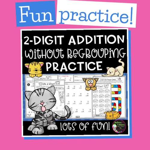 2-Digit Addition WITHOUT Regrouping Practice