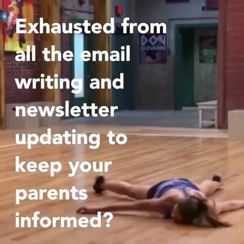 Parent Communication Template | Google Slides | Class Website | Paint Splatter