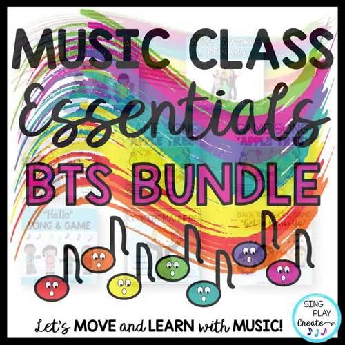 Music Class Essentials + BTS Bundle: Songs,Chants,Games, Mp3's, Decor, Lessons