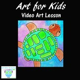 Video Art Lesson: Draw and Paint a Sea Turtle With Waterco