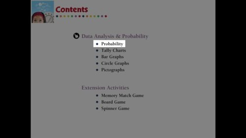 Data Analysis & Probability: Probability Practice the Skill 3 NOTEBOOK Gr. PK-2