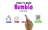 Word of the Week Vocabulary: HUMBLE: Whiteboard Video + On