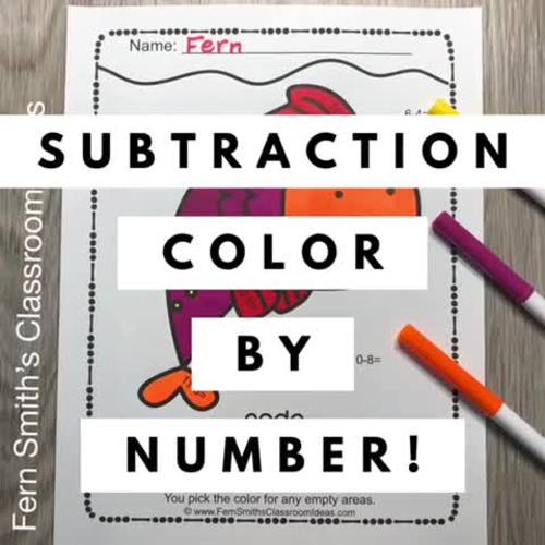 Ocean Color By Number Subtraction