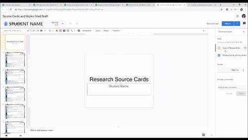 Research Source Cards, Digital for Google