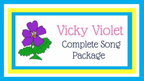 "Life Cycle of the Flower | ""Vicky Violet"" Action Song 