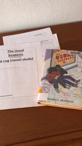 The Usual Suspects Lit Log (novel study)