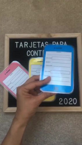 TARJETAS PARA CONTRASEÑAS/ STUDENTS PASSWORD CARDS