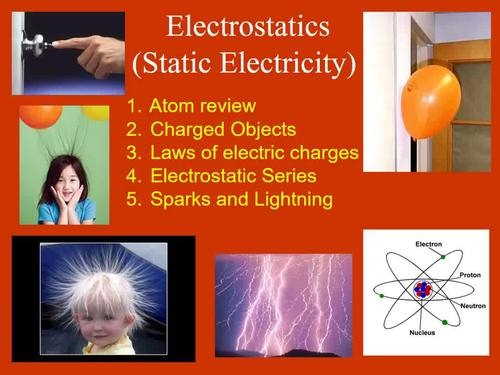 Static Electricity: Electrostatics - PowerPoint Lesson & Student Notes