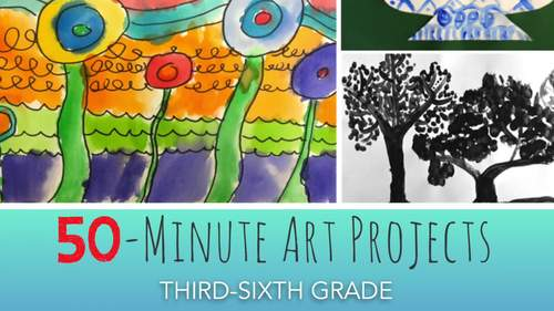 50 Minute Art Lessons For Grades 3 6 By Deep Space Sparkle Tpt
