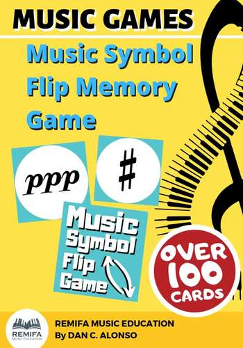 GAME - Music Symbols Memeory Flip Game - OVER 100 cards.