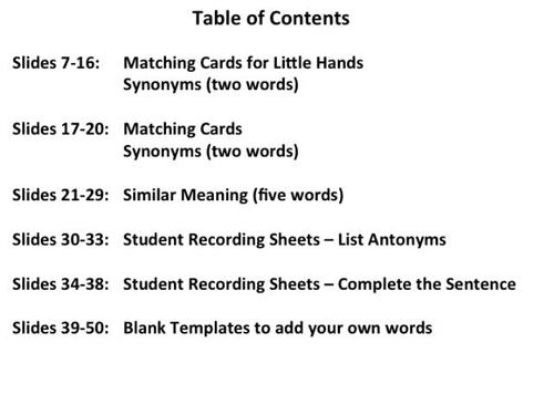 Synonyms- Activity Pack - Matching Activities, Student Response Sheets +  More