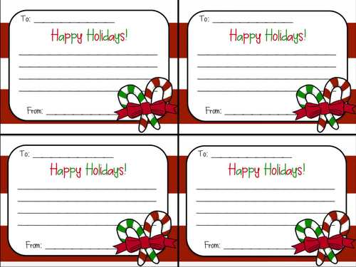 christmas candy cane gram  u0026quot happy holidays u0026quot  note for