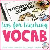 Vocabulary Teaching Tips FREE Video