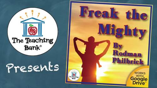 Freak the Mighty Novel Study Book Unit Distance Learning