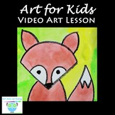 Video Art Lesson: Learn to Draw and Watercolor Paint a Little Fox