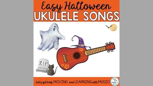 Halloween Ukulele Songs: Easy Songs, Dm and Em Chords, Mp3 Practice Tracks