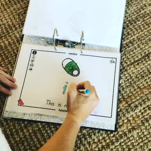 Sight Word Reading & Writing Mats - Assisted level
