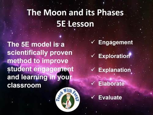 The Moon and its Phases - Complete 5E Lesson Bundle