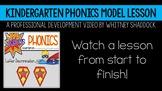 Kindergarten Phonics Curriculum Model Lesson Video, Letter